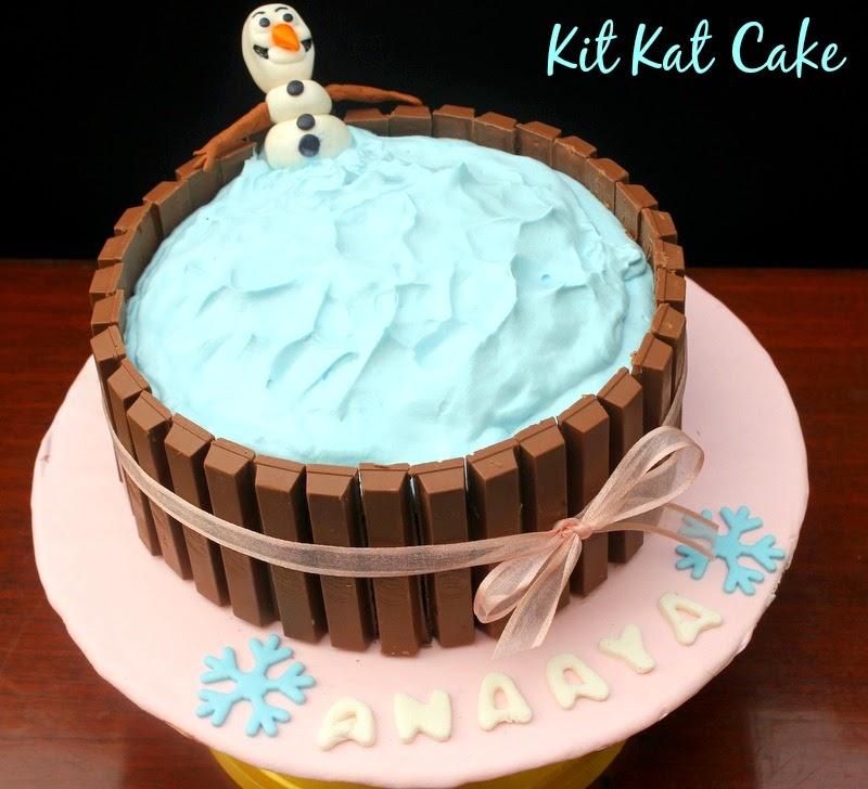 Kit Kat Cake Olaf Frozen Theme Ribbons To Pastas