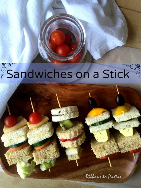 Sandwiches on a Stick - Ribbons to Pastas