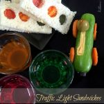 Traffic Light Sandwiches with Cucumber Car