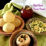 Flavored  Pani Poori with Beetroot