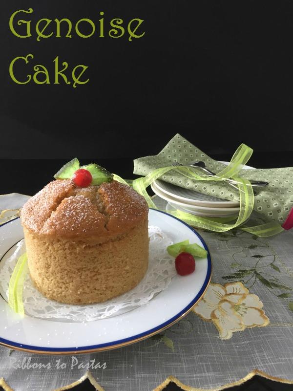 Eggless Genoise Cake Recipe