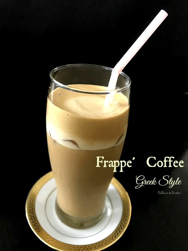 Frappe Coffee Greek Style Ribbons To Pastas