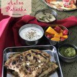 Raksha Bandhan Breakfast Thali with Amritsari Aaloo Paratha
