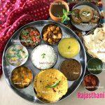 Protein based Rajasthani Thali and Mangodi ki Sabzi