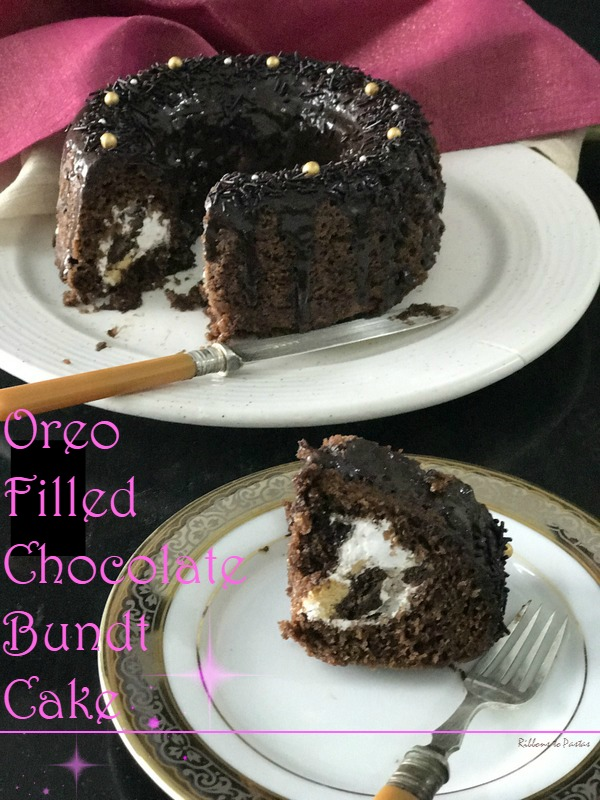 Oreo Filled Chocolate Bundt Cake