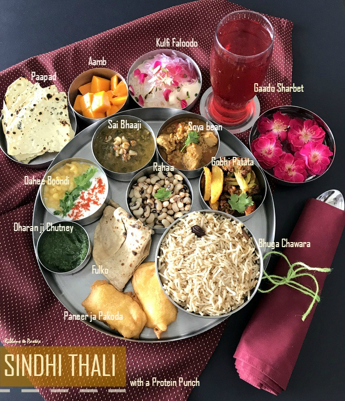 Sindhi thali with protein rich soyabean ribbons to pastas today is the last day of september mega marathon where we have been posting protein rich recipes throughout the month i have posted kebabs biryanis forumfinder Choice Image