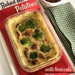 Baked Mashed Potatoes with Broccoli