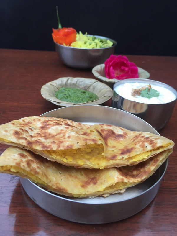 Bedmi Paratha , stuffed paratha from Uttar Pradesh