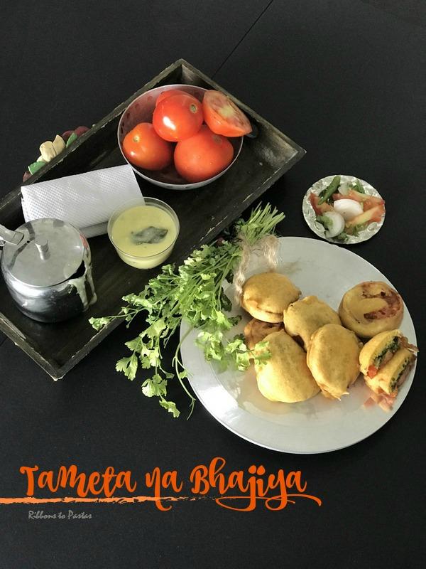 T - Tameta na Bhajiya -street food from Surat, Gujarat