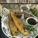 R – Ratalu Poori , street food from Surat