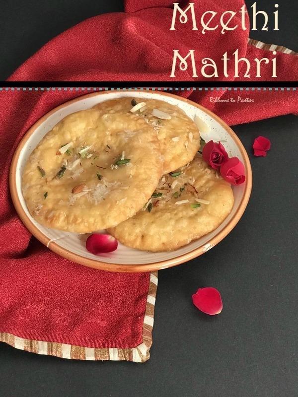 Meethi Mathri , a Punjabi Sweet Flatbread
