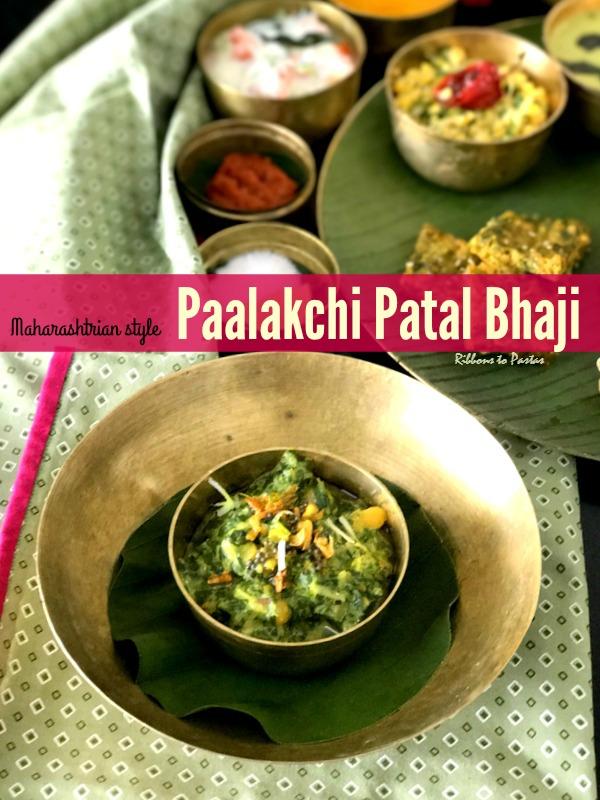 Paalakchi Patal Bhaji - Maharashtrian style