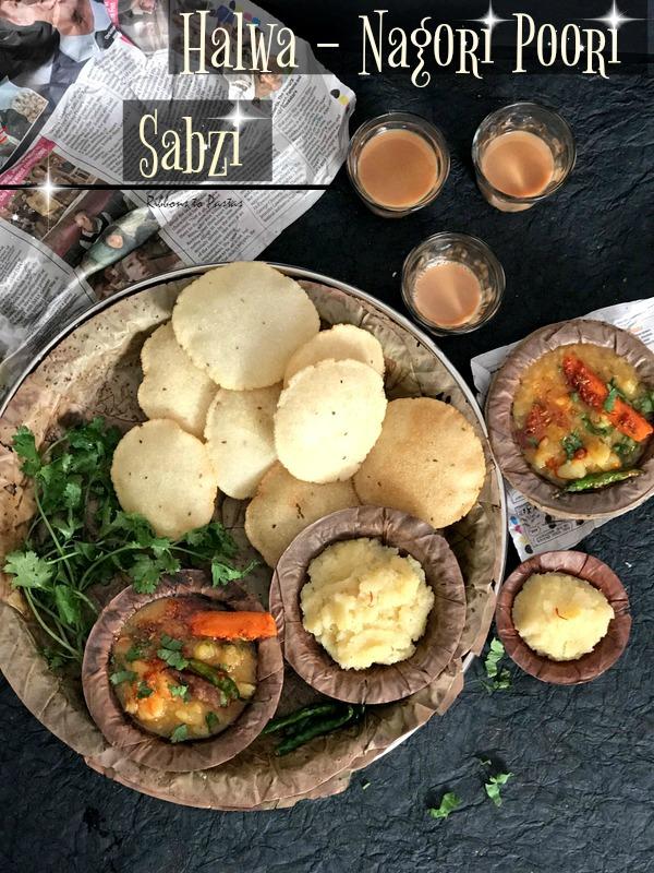 H - Halwa Nagori Poori Sabzi