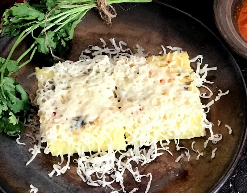 Y - Yellow Dhokla with Cheese