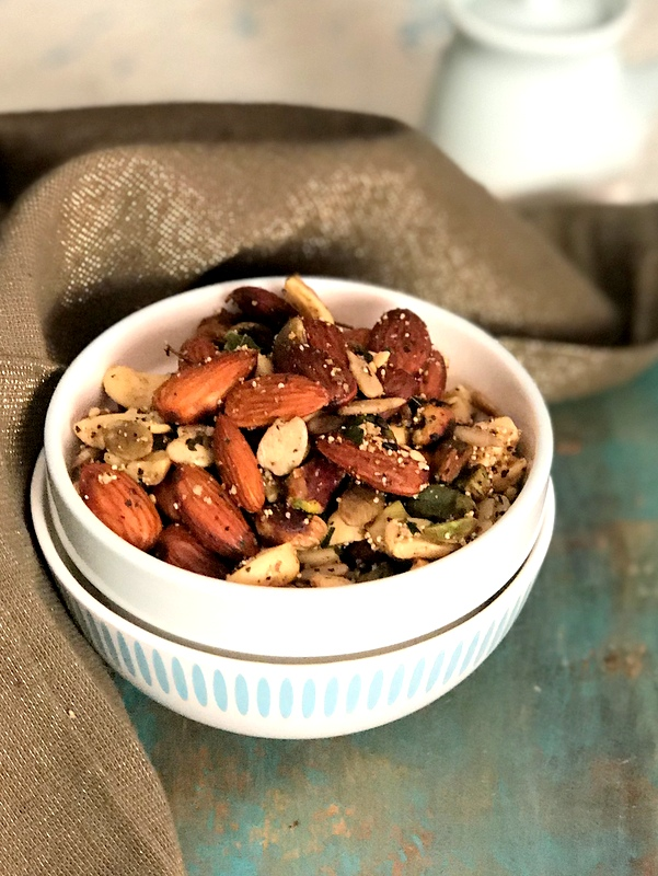 Roasted Spicy Nuts & Seeds