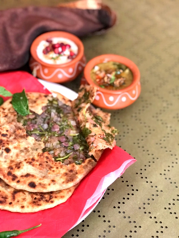 Onion and Mint Paratha