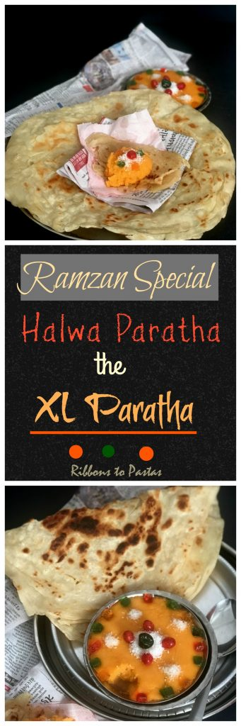 X Large Paratha with Halwa