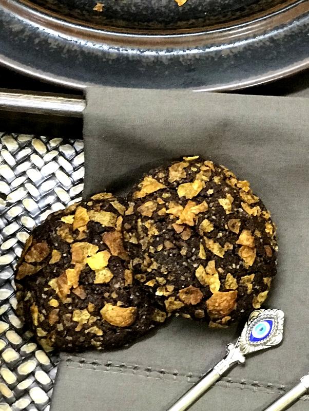Mocha Cornflakes Cookies
