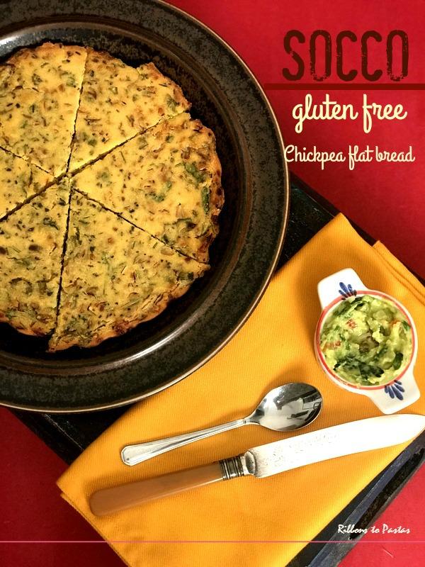 Socca, the gluten free chickpea bread