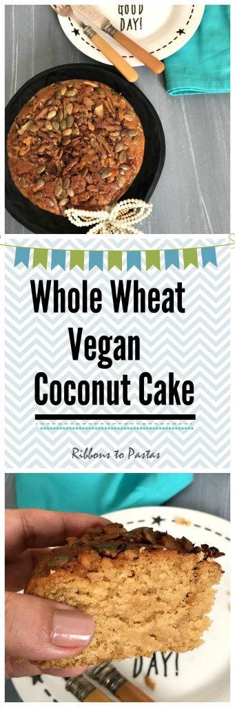 Whole Wheat Coconut Cake - Eggless and Vegan