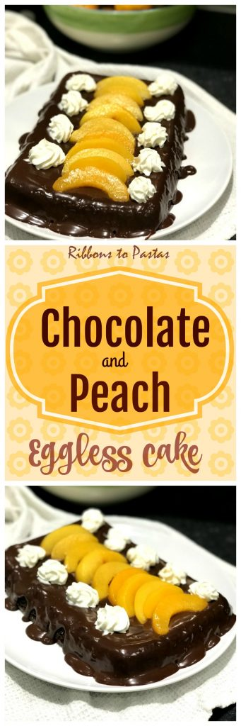 Chocolate and Peach Cake