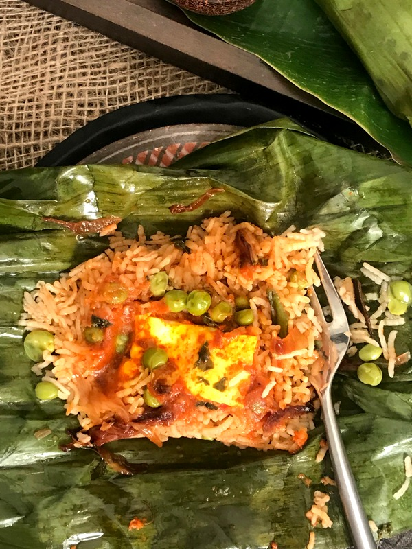 Rice & Curry in Banana Leaf Packets