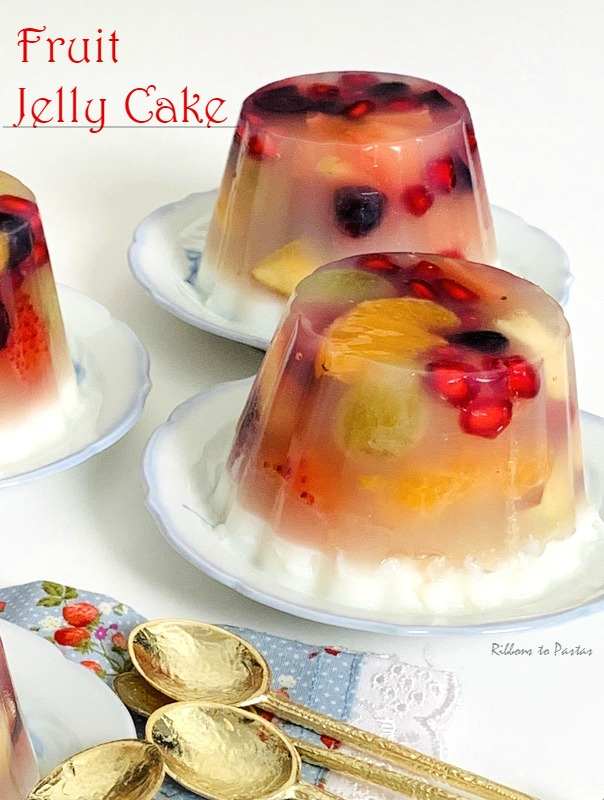 Fruit Jelly Cake with agar agar