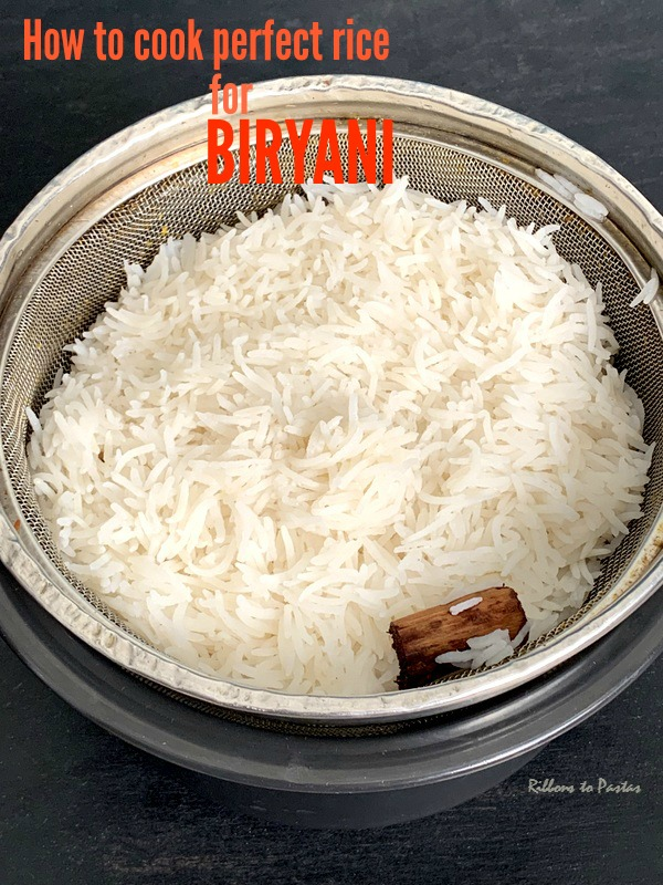 How to cook Perfect Rice for Biryani