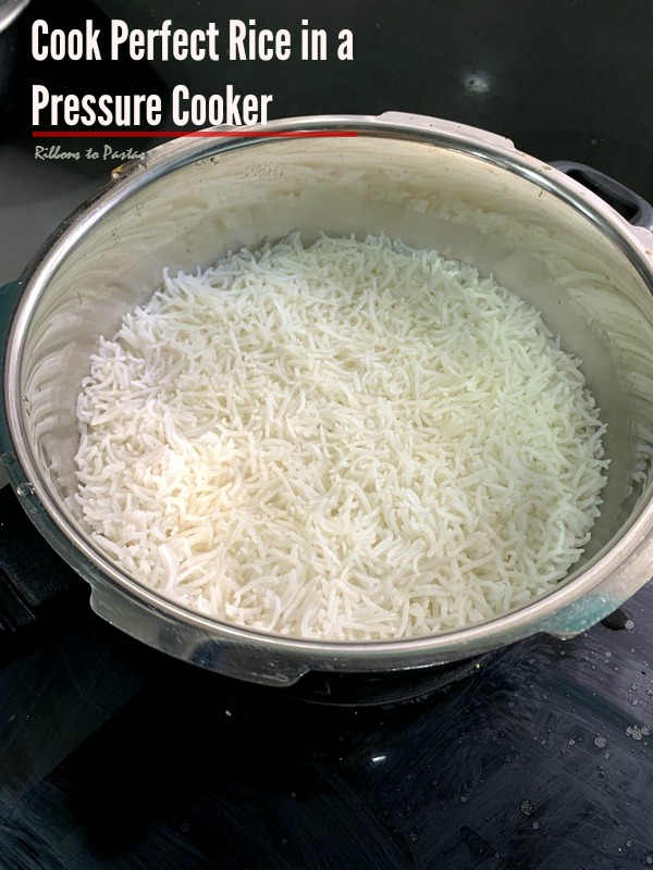 How to cook Perfect Rice in a Pressure Cooker