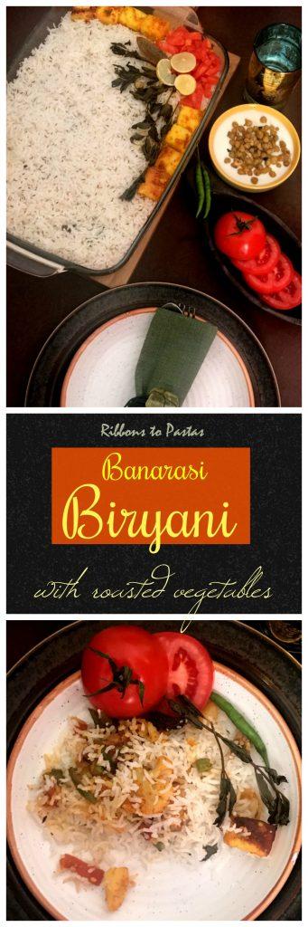Banarasi Biryani - biryani with roasted veggies
