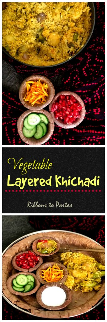 Vegetable Layered Khichadi