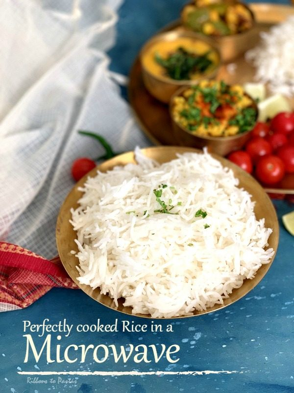 How to cook Perfect Basmati Rice in a Microwave - Ribbons to Pastas