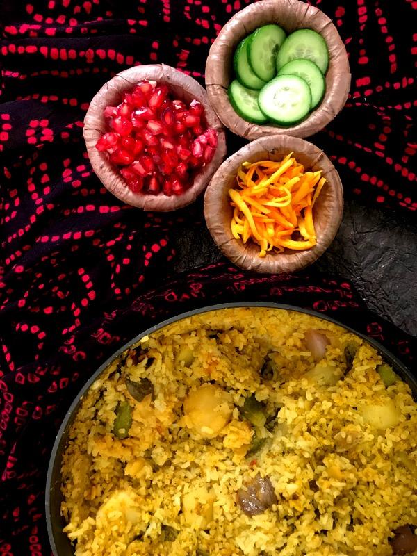 Vegetable Layered Khichadi