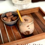 Nutella Shake with Nutella Cubes