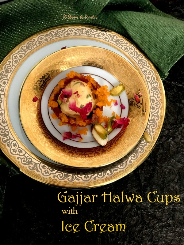 Gajjar Halwa Cups with Ice Cream