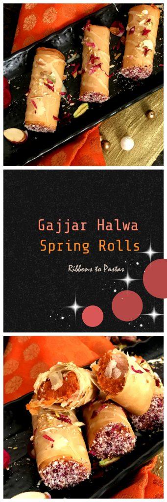 Gajjar Halwa Spring Rolls