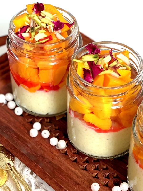 Kesari Phirni with Mango & Nuts