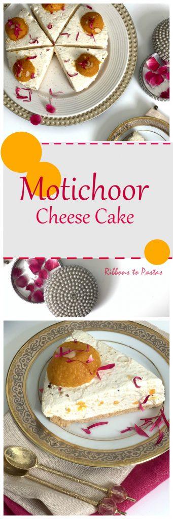 Motichoor Cheese Cake