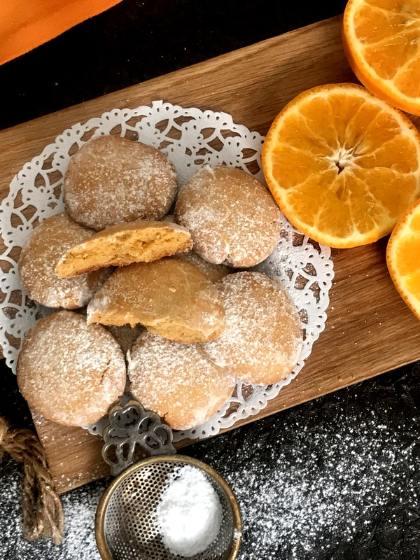 Orange Crinkle Cookies