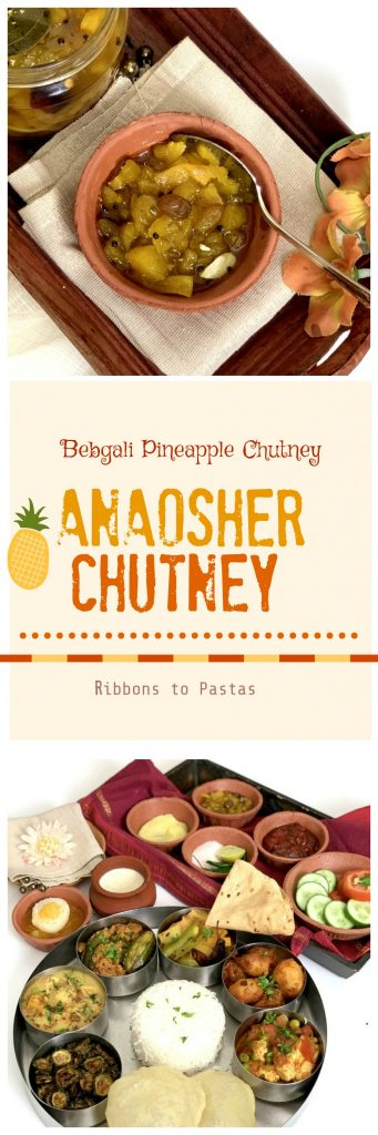 Anarosher Chutney ( Pineapple Chutney ) is a delicious sweet , slightly tart and spicy chutney , popular in Bengali homes .