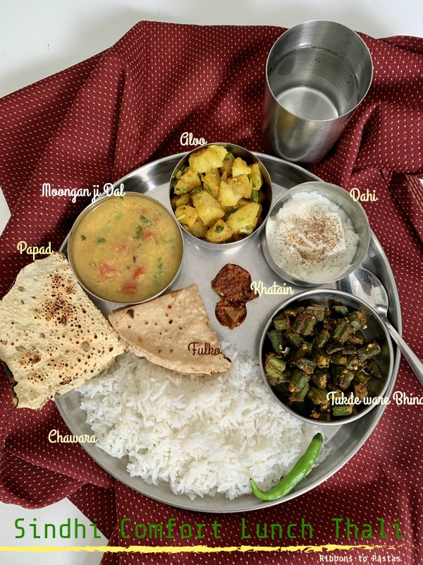 Sindhi Comfort Thali is a ultimate comfort meal prepared in a Sindhi family . This is a basic , no frill meal and can be enjoyed by all.