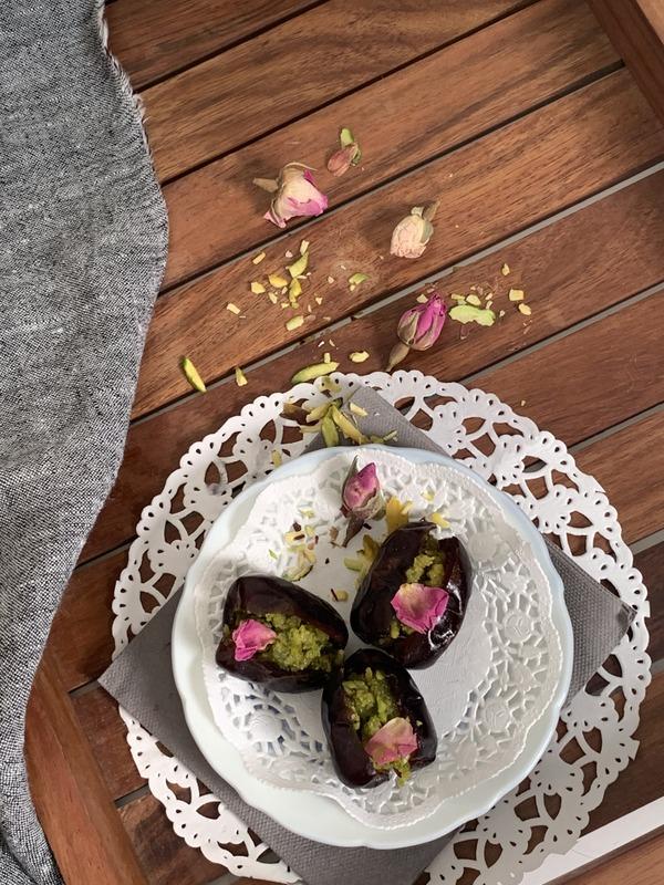 Rose and Pistachio Stuffed Dates