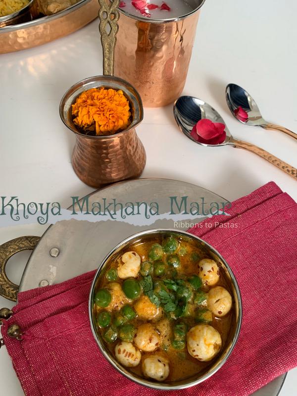 Khoya Makhana Matar