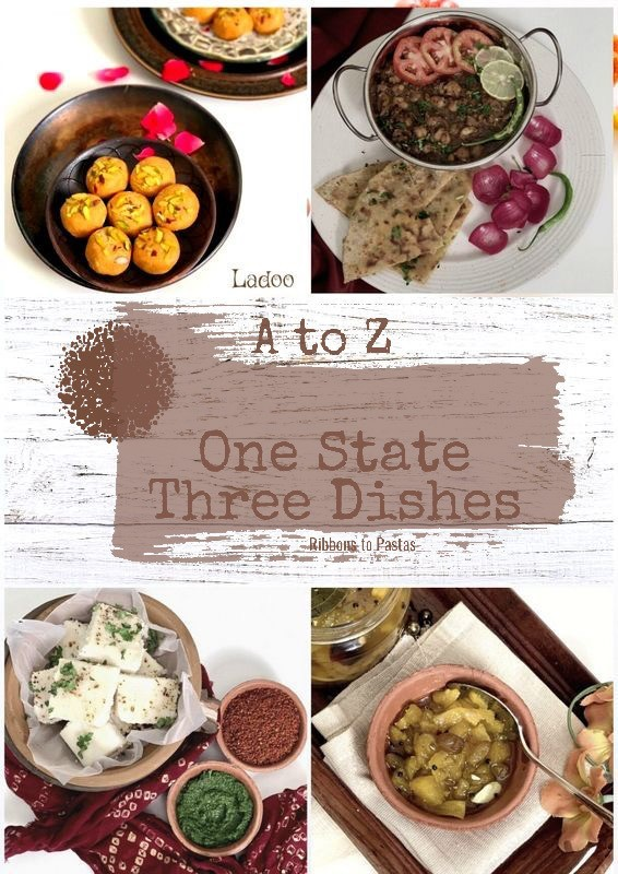 A to Z - One State Three Dishes