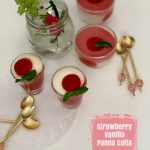 Strawberry and Vanilla Panna Cotta