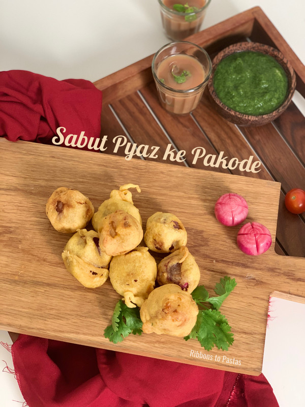 Stuffed Whole Onion Pakoras