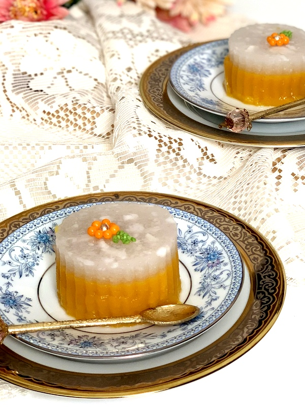 Thai Mango Coconut Pudding