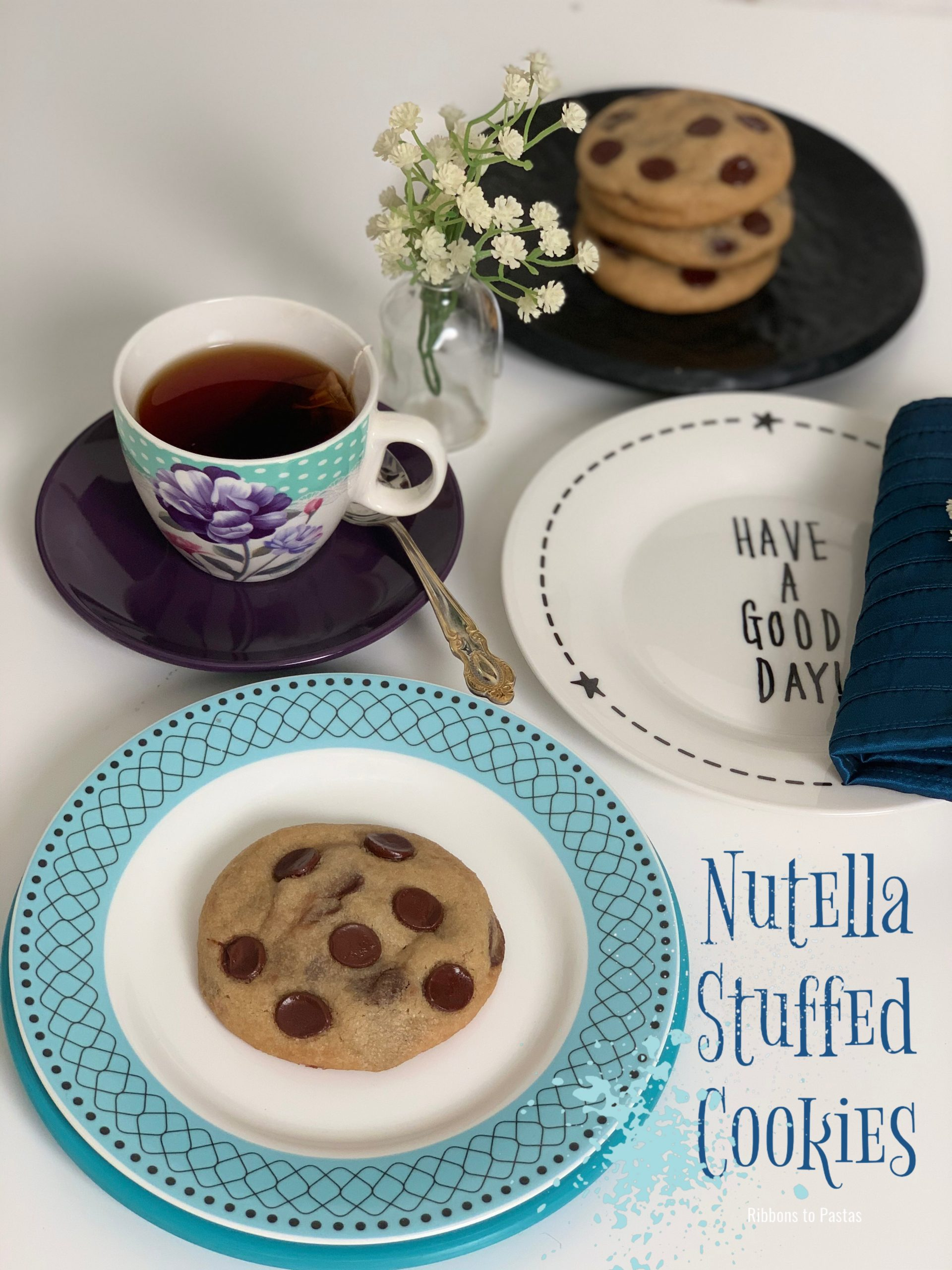 Nutella Stuffed Cookies Ribbons To Pastas