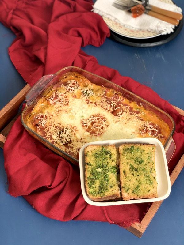 Baked Trottole Pasta with Veggies
